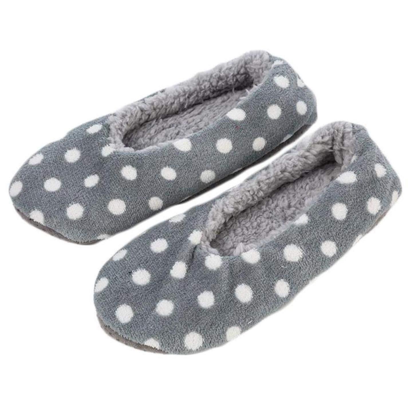 Couples Non-Slip Floor Socks Polka Dot Leopard Indoor Thick Slippers Socks