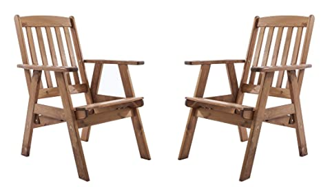 Sedie Schienale Alto Legno : Ambientehome sedia da giardino regolabile poltrona sedia sedie