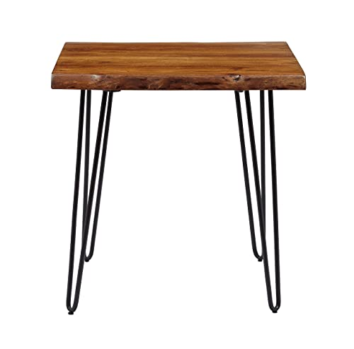 Jofran Nature s Edge End Table, 24 W X 24 D X 24 H, Acacia Finish, Set of 1
