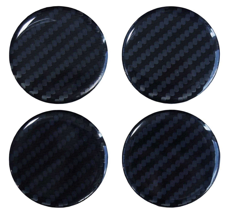 Pellicola hi-tech in 3D, 910034, con struttura in rilievo in fibra di carbonio nera, per coprimozzo da 60 mm per coprimozzo da 60mm Bike Label