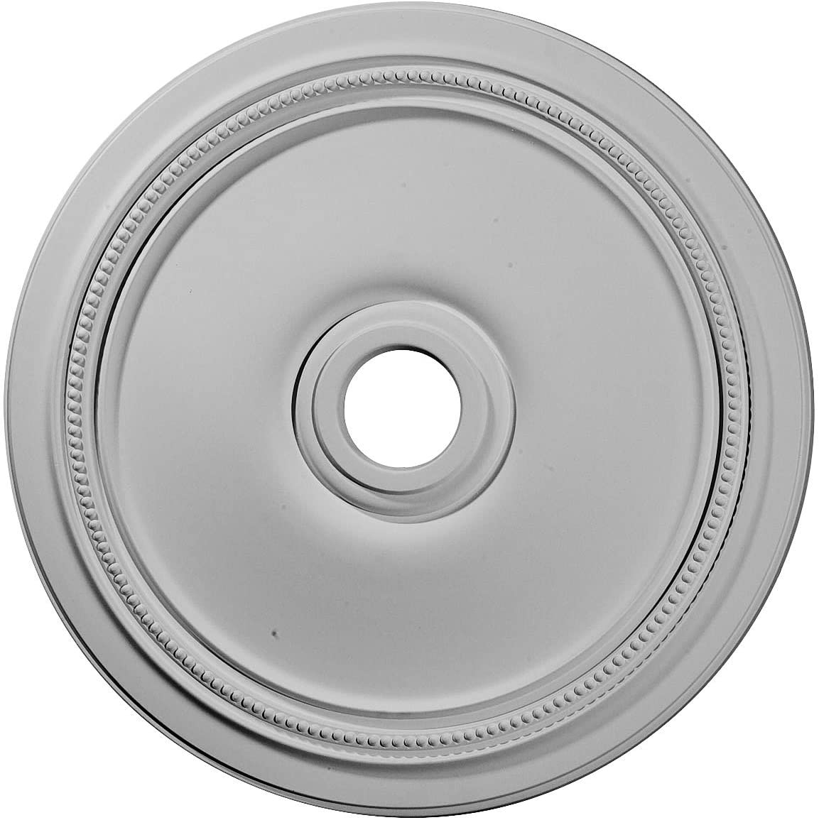 """Ekena Millwork CM24DI Diane Ceiling Medallion, 24""""OD x 3 5/8""""ID x 1 1/4""""P (Fits Canopies up to 6 1/4""""), Factory Primed"""