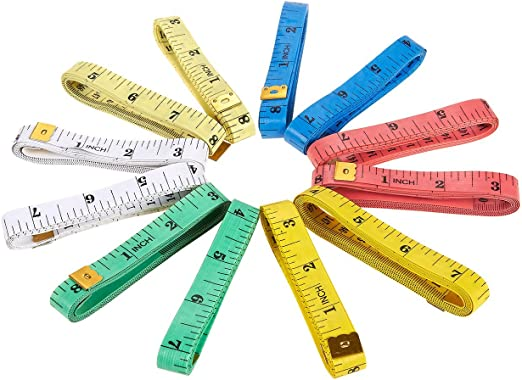 """Soft Vinyl 60/"""" Sewing Tailoring Craft Tape Measure Assorted Pack of 3 free post"""
