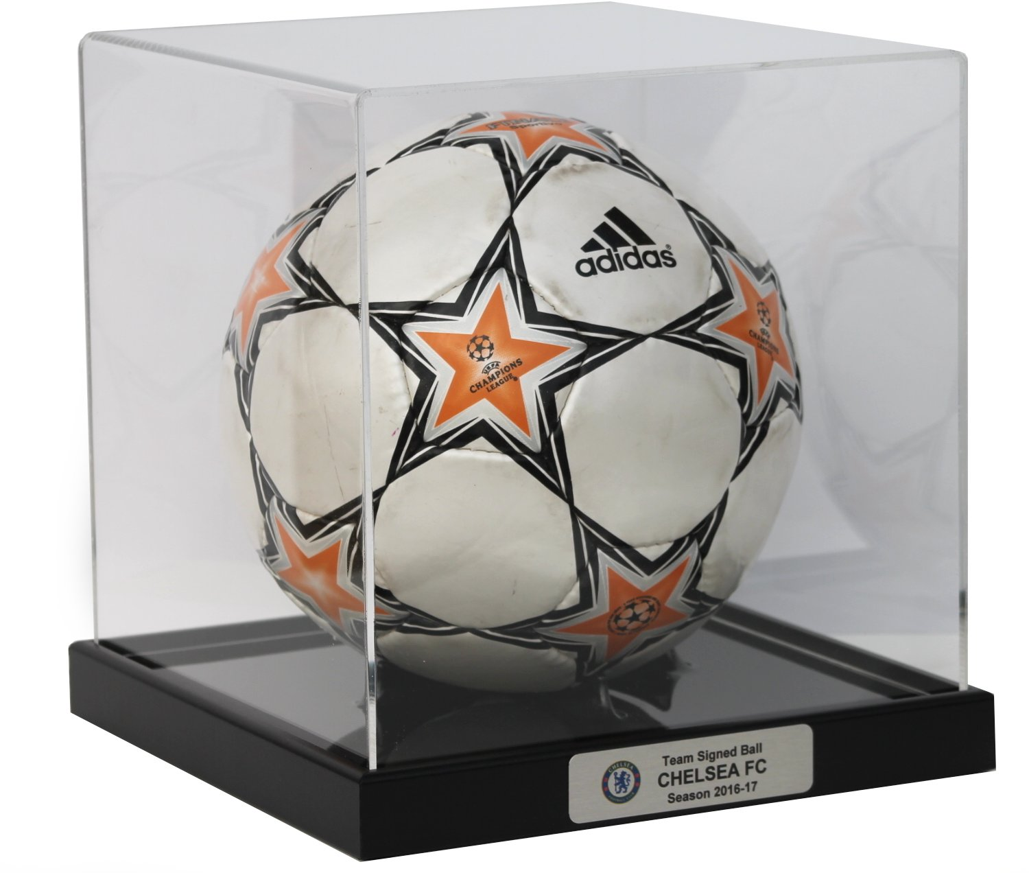 Contemporary Football Display Case with Black Base DREAM KEEPERS 202 B