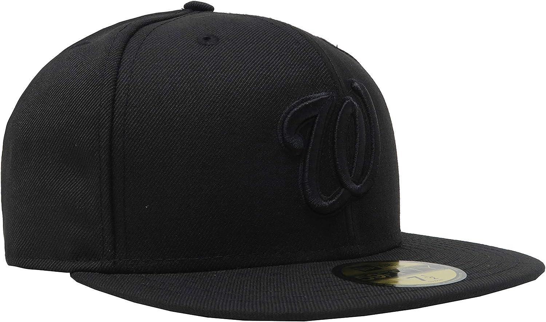 New Era x MLB Mens Washington Nationals 59Fifty Basic Fitted Hat Blackout