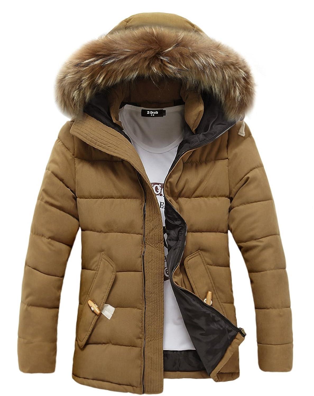Top FOURSTEEDS Womens Faux Fur Hooded Warm Winter Outwear Parka Downs Puffer Coat
