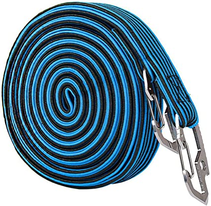 2 /& 4 Meter Length Adjustable Elastic Luggage Straps Ropes Belts with Carbon Steel Hook for Outdoor Activities Fastening Luggage and Backpacks Elasticated Bungee Cord 4 Colors