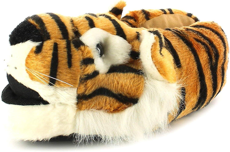 UK 3//4 Novelty TIGER PANTOUFLES-Taille S