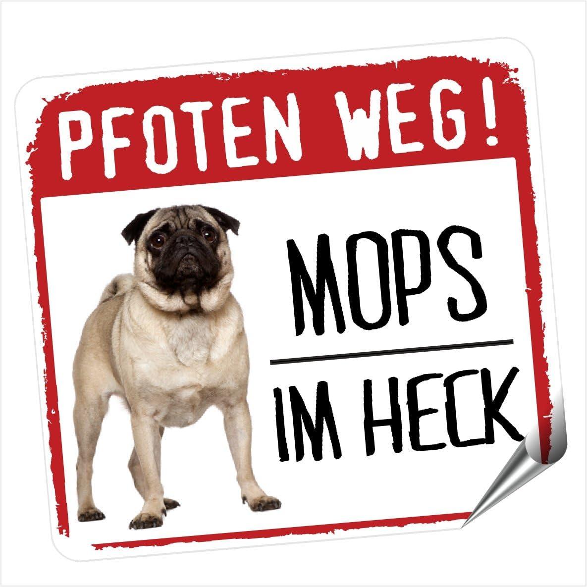 Mops Pug Pfoten Weg Kleiner Auto Aufkleber Hundeaufkleber Reflektierend Reflective Siviwonderhundeaufkleber Reflektierend Reflective Auto