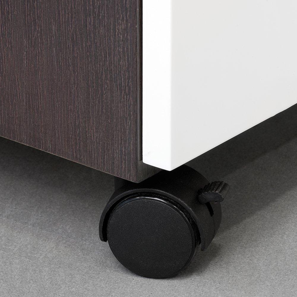 di/ámetro 30 mm con placa de montaje y rodamiento de bolas Emuca 2036717 sin frenos Lote de 4 ruedas pivotantes negras para mueble