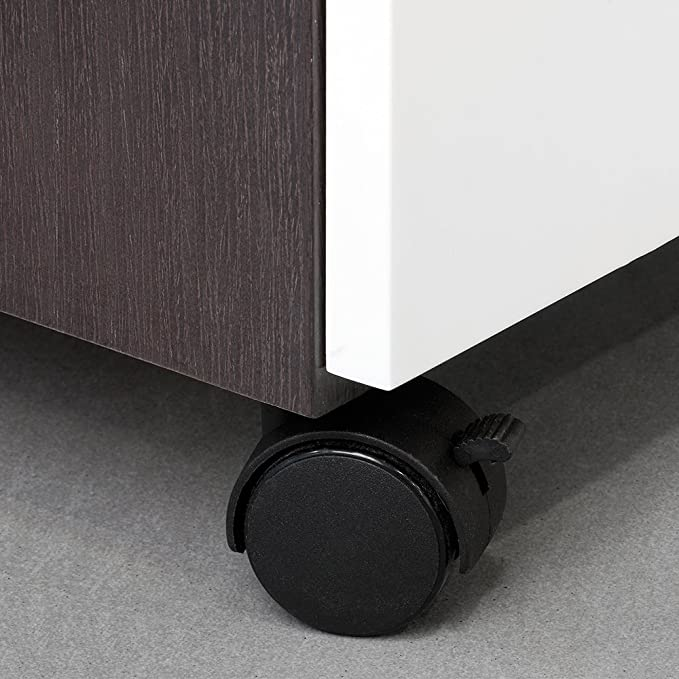 Emuca 2036717 Lote de 4 Ruedas pivotantes Negras para Mueble 2 sin Freno diámetro 40mm con Placa de Montaje y rodamiento de Bolas, 40 mm: Amazon.es: ...
