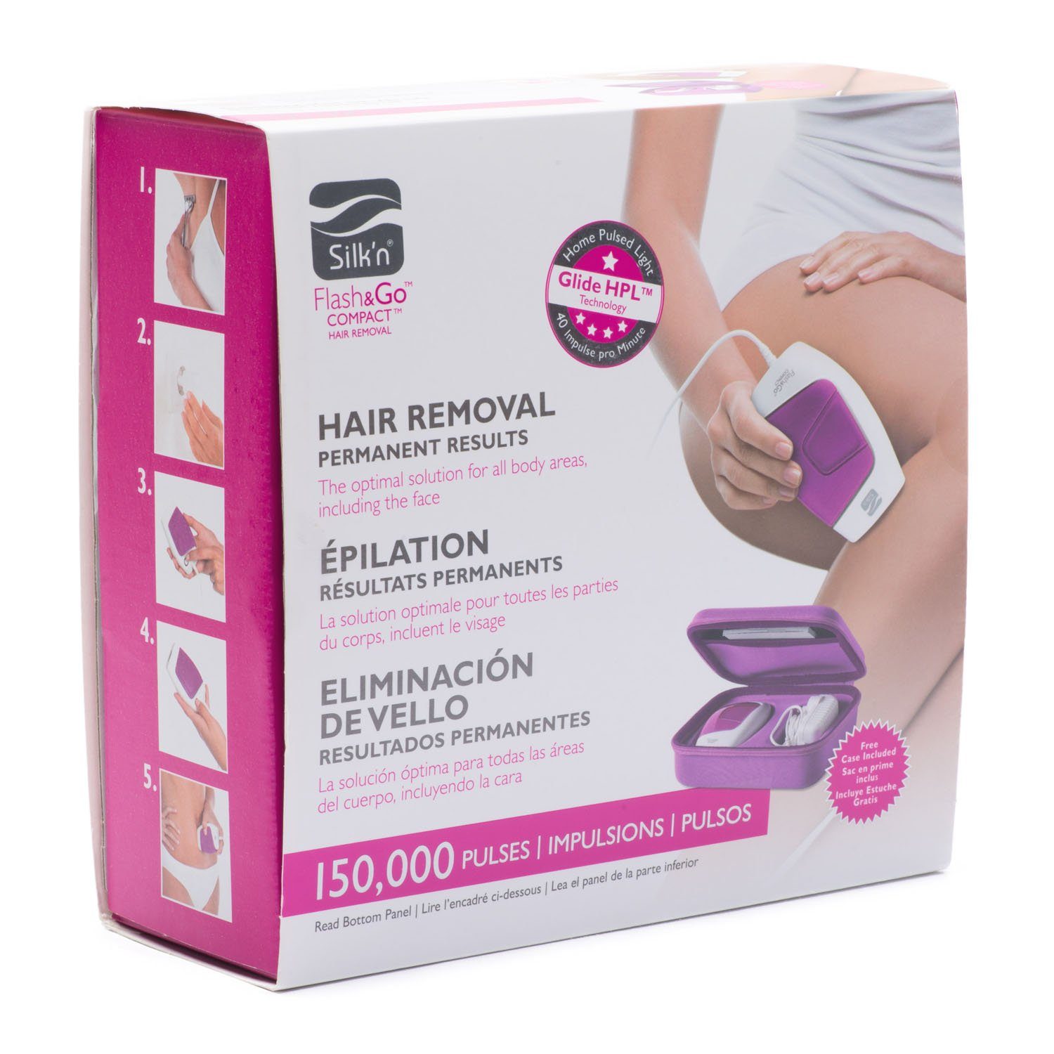 Silk'n Flash&Go Compact Laser Hair Removal Device and Trimmer by Silk'n (Image #2)
