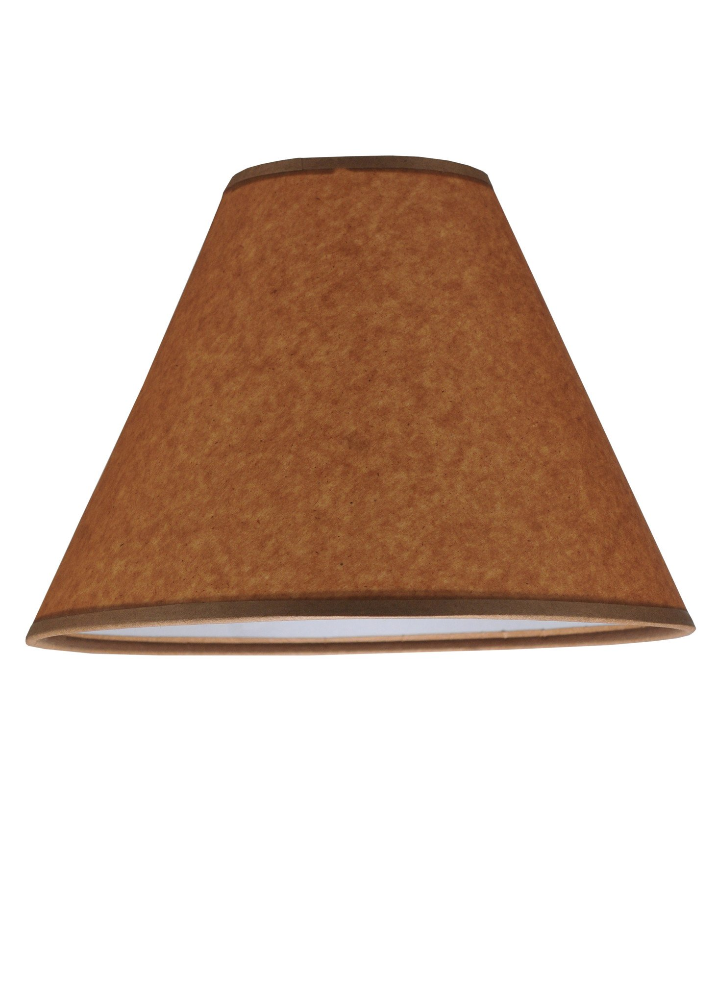 10 Inch W X 7 Inch H Parchment Oil Shade Product Application Fabric, Fringe and Parchment by Meyda