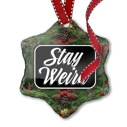 Wierd Christmas Ornament.Amazon Com Neonblond Christmas Ornament Classic Design Stay