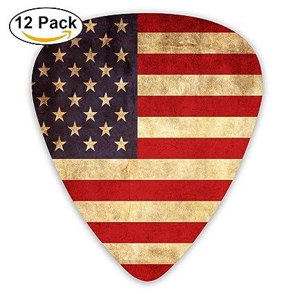 Bandera Americana Art Fashion Guitarra púas 351 Forma Classic Picks púas para guitarra de celuloide de