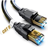 Cat 8 Ethernet Cable, 1.5Ft 3Ft 6Ft 10Ft 15Ft 20Ft 30Ft 40Ft 50Ft 60Ft 100Ft Heavy Duty High Speed Internet Network Cable, Pr
