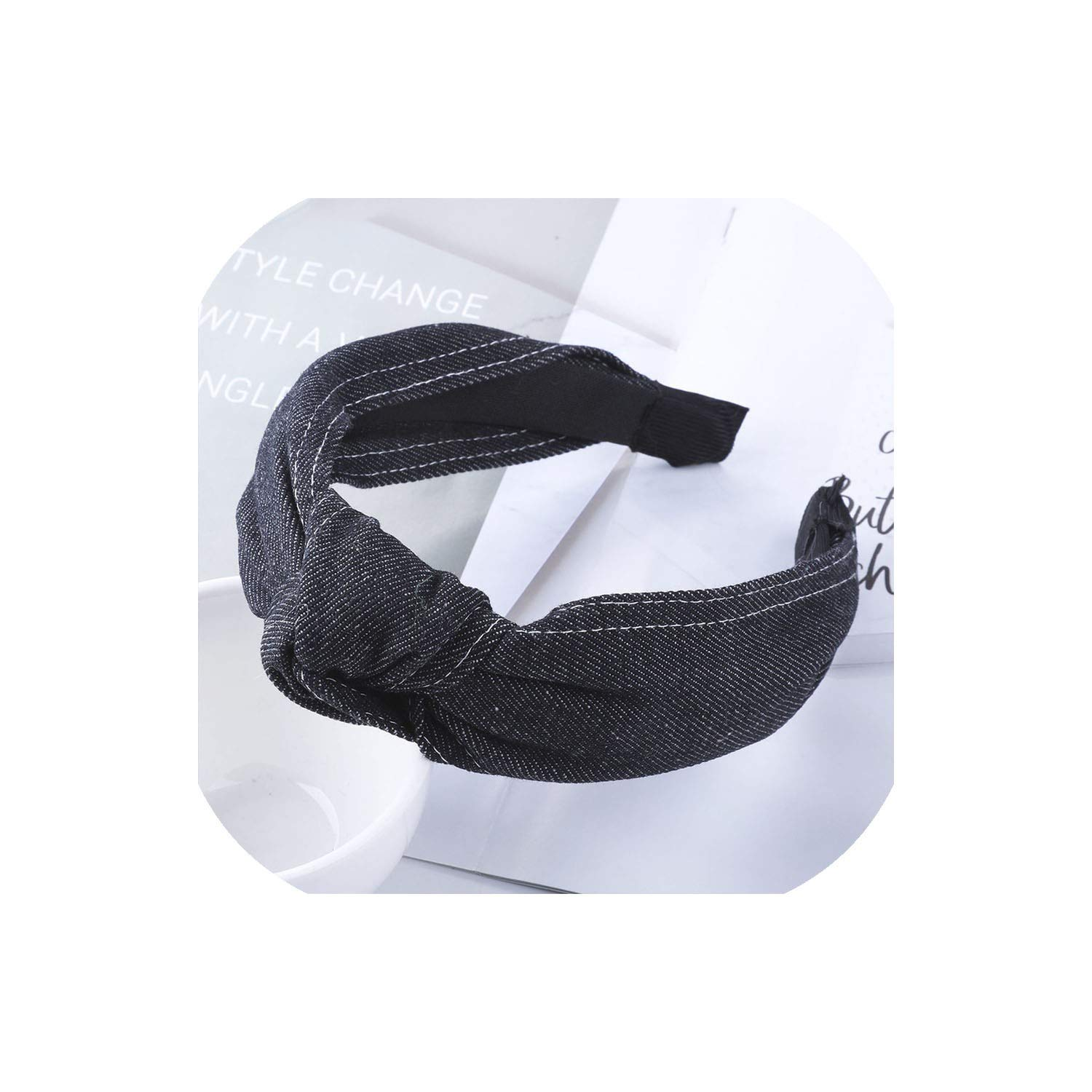 Wide Headband Women Denim...