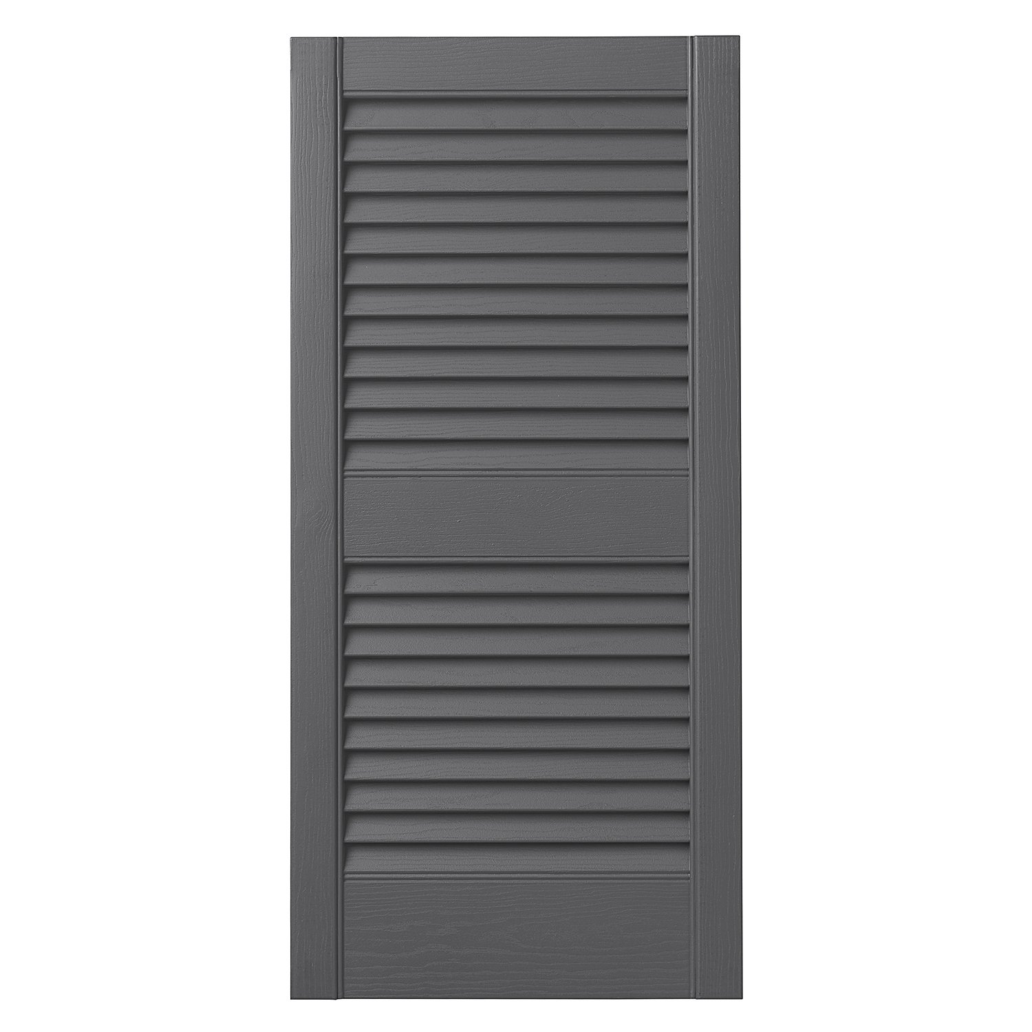 Ply Gem Shutters and Accents VINLV1535 16 Louvered Shutter, 15'', Gray