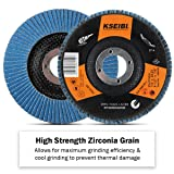 KSEIBI 686036A Zirconia Corundum 4 1/2 Inch Flap