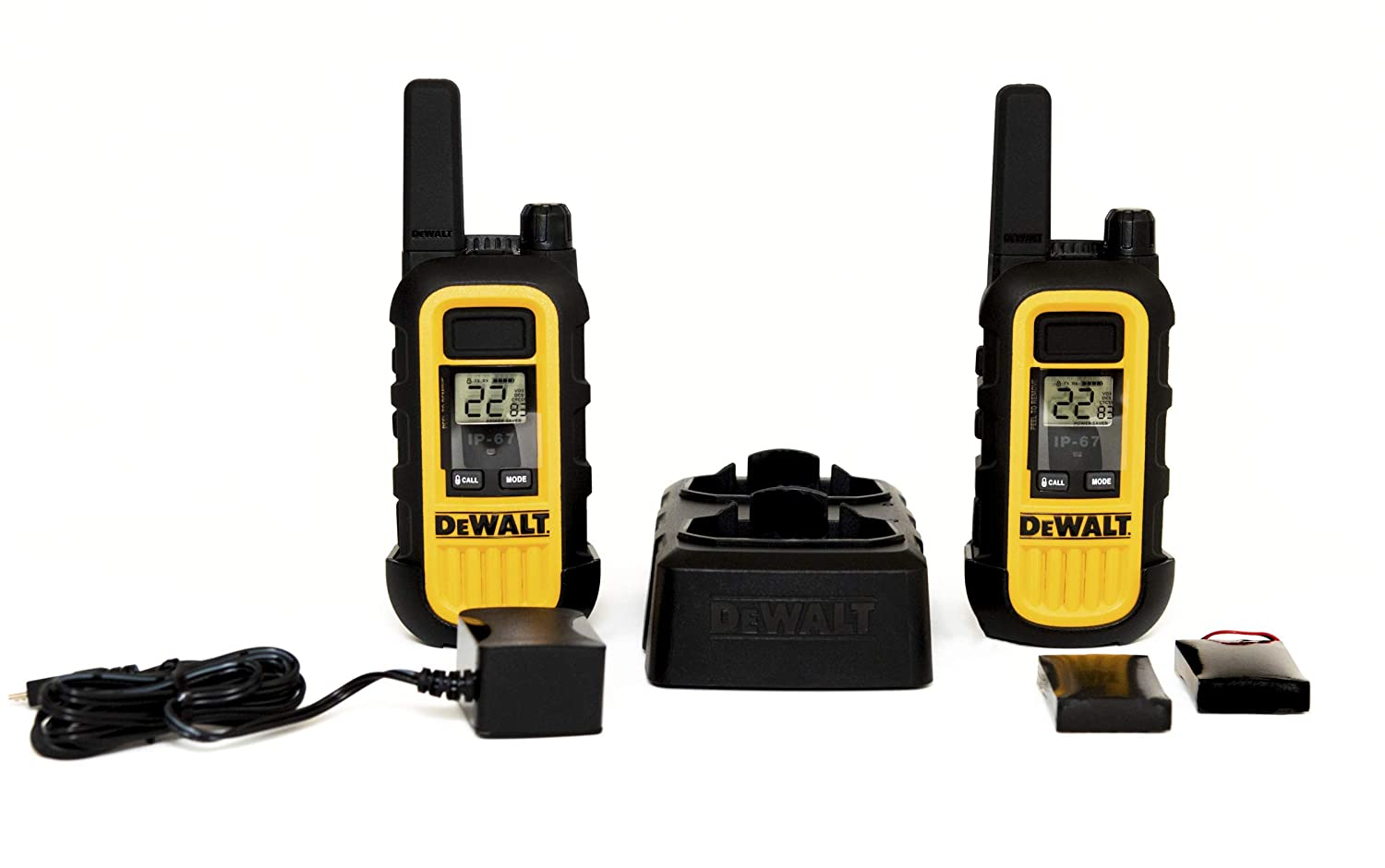 DeWALT DXFRS300 Walkie Talkies Heavy Duty Business Two-Way Radios (Pair)