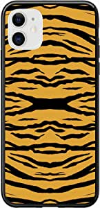 Okteq Case for iPhone 11 Case Shock Absorbing PC TPU Full Body Drop Protection Cover matte printed - african tiger skin By Okteq