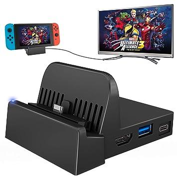 Amazon.com: UKor Switch Dock, Mini Switch portátil TV ...