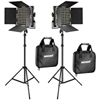 Deals on Neewer 2 Pieces Bi-color 660 LED Video Light and Stand Kit