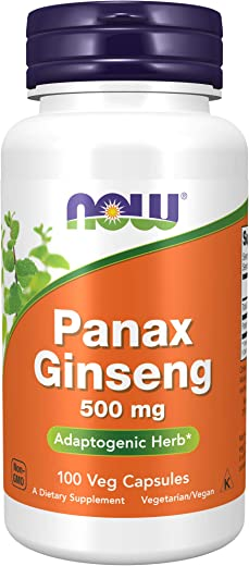 NOW Supplements, Panax Ginseng 500 mg, 100 Capsules
