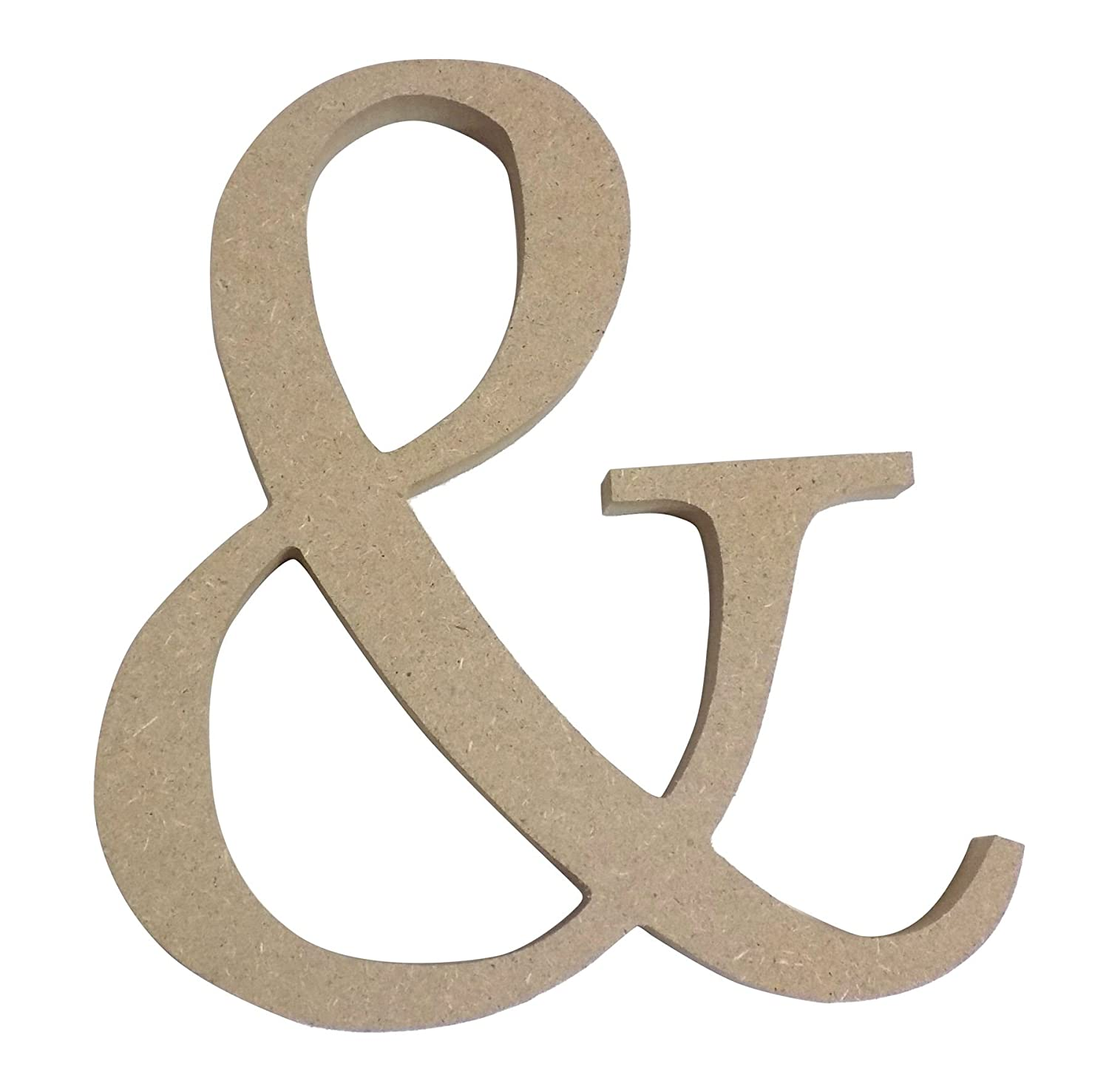 BEIGE FREE STANDING AMPERSAND (&) SYMBOL WOODEN MDF H13CM X W12.5CM X D2CM Wooden Numbers