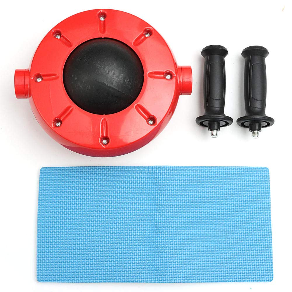 nouler Free Degrees Abdominal Wheel Roller Fitness Training Gym Power,Red,One Size