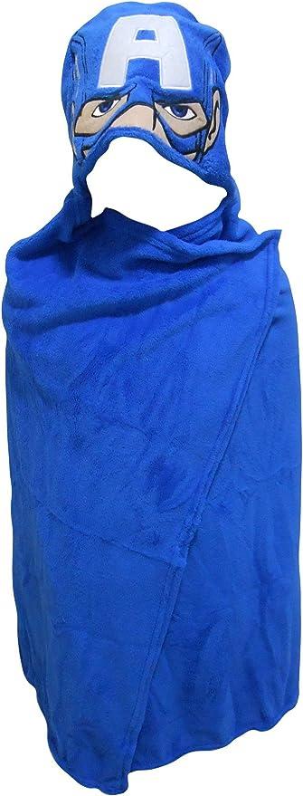 Marvel Avengers Captain America Hooded Cuddle Blanket Dressing Gown Bath Robe