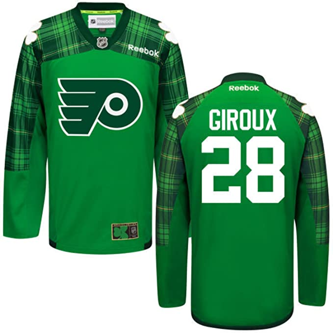 Flyers 28 Claude Giroux Green St. Patrick s Day Reebok Jersey Size-S   Amazon.co.uk  Sports   Outdoors 98dca494f