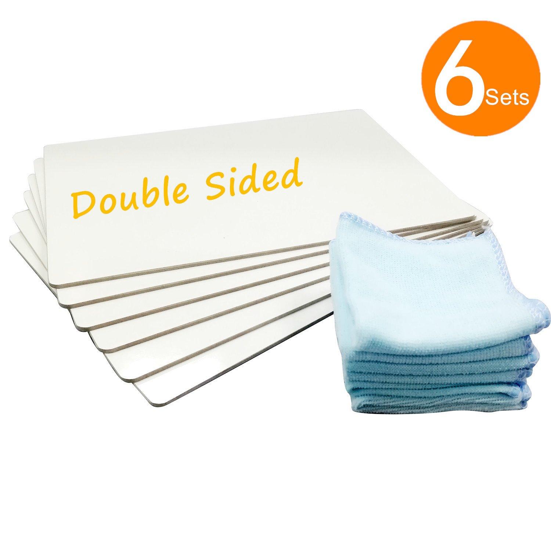 Kalevel - Pizarra de borrado en seco, 9 x 12 cm, doble cara ...