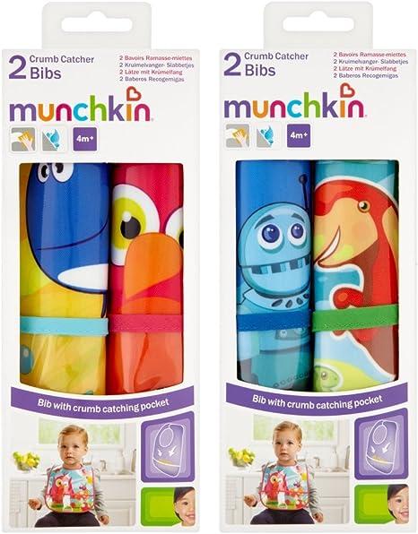 Munchkin 11536 - Pack de 2 baberos recogemigas (surtido): Amazon.es: Bebé
