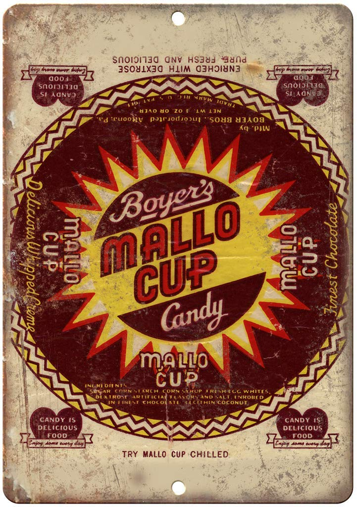 HiSign Boyers Mallo Cup Candy Retro Cartel de Chapa Coffee ...