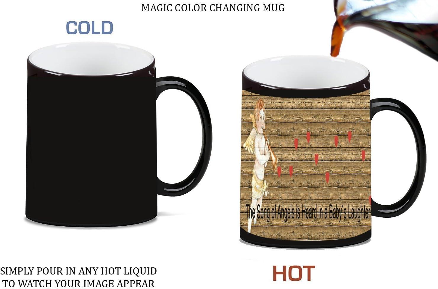 amazon com sticker skin print angel music romantic heart wood background printed design magic color morphing ceramic coffee mug tea cup by smarter designs kitchen dining amazon com