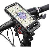 iPhone X/iPhone XS Support pour Vélo Étanche, Bicyclette Etui Rack Vélo du Guidon Motocycle Antichoc Housse et Résistan 360° Rotation aux Chocs Imperméable Handlebar Mount pour iPhone 10 (Noir)
