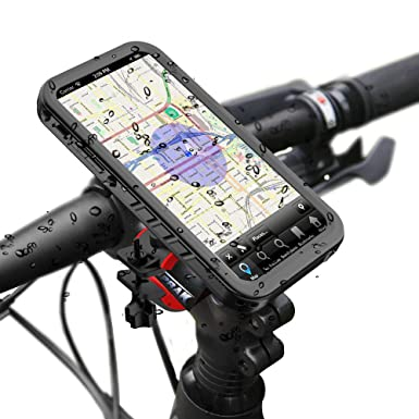 new styles 836b4 11a69 SPORTLINK iPhone X/iPhone XS Bike Mount, Bike Kit & Waterproof Case,  Bicycle Motorcycle Handlebars Cradles Phone Holder with 360 Degree  Adjustable ...