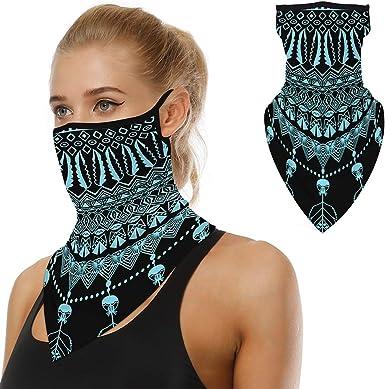 Seamless Bandana Face Scarf Headwear Face Scarf Ear Loops Face Rave Balaclava Men Women Neck Gaiters for Motorcycle