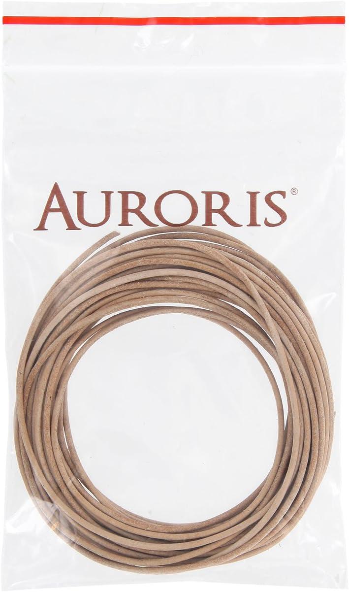 AURORIS Lederband rund /Ø 5 mm L/änge//Farbe w/ählbar Variante: 1m // dunkelbraun