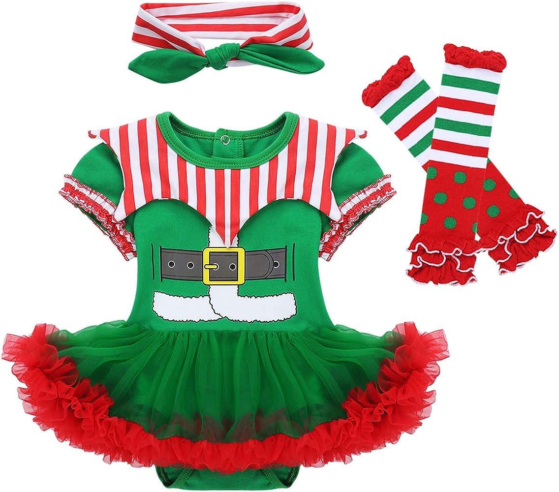 ranrann Conjunto de Navidad para Bebé Niña Mi Primera Navidad 3Pcs ...