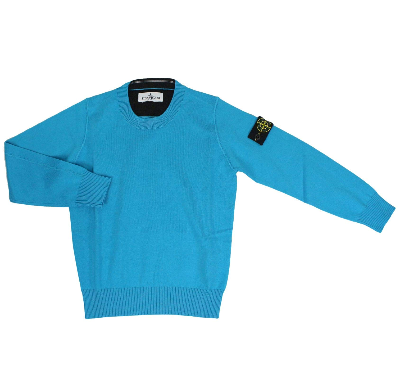 Stone Island Boys 7016504A4v0042 Blue Cotton Sweater