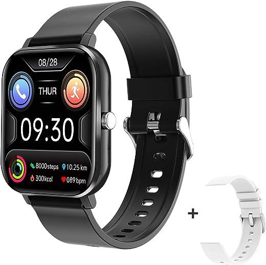 docooler 1.54 Pollici Smart Watch Uomo Full Touch Fitness Tracker Chiamata Wireless Pressione Sanguigna Donna Sport Smart Wristband per Android iOS