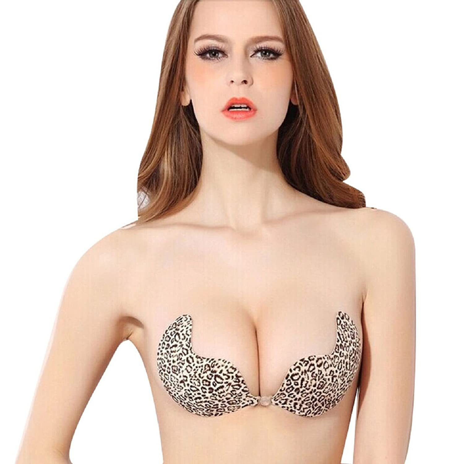 Sannysis Push Up Silicone Self-adhesive Sexy Backless Leopard ...