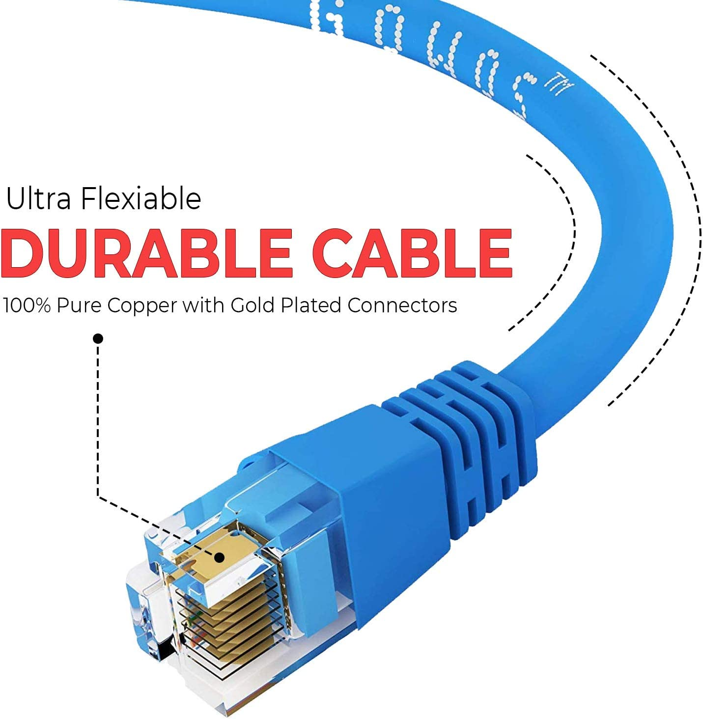 10-Pack - 8 FT Orange 10 Gigabit//Sec High Speed LAN Internet//Patch Cable GOWOS Cat6 Ethernet Cable 24AWG Network Cable with Gold Plated RJ45 Snagless//Molded//Booted Connector 550MHz