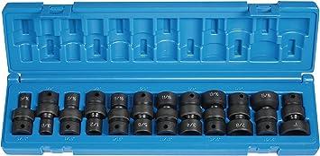 12 Piece Grey Pneumatic 3//8DR 12PC DP SET 3//8 Drive 12 Point Deep Length Fractional Set