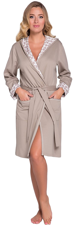TALLA S. Italian Fashion IF Bata en Algodón Mujer 194R