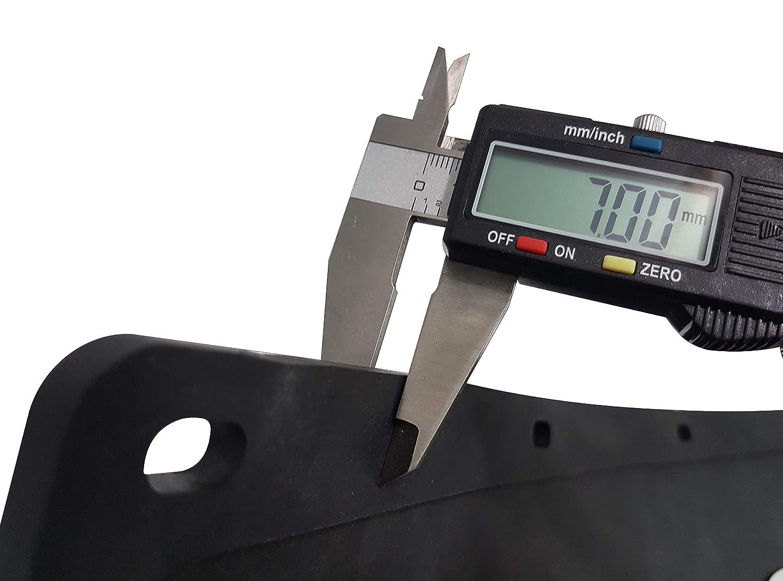 color negro Guardabarros de goma resistente 2 unidades remolque 60 x 18 cm para cami/ón cami/ón