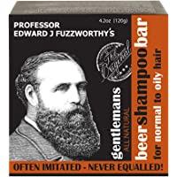 Professor Fuzzworthy's Gentlemans Beer SHAMPOO Bar for Men | Normal, Dry, Oily Hair | Unscented with All Natural…