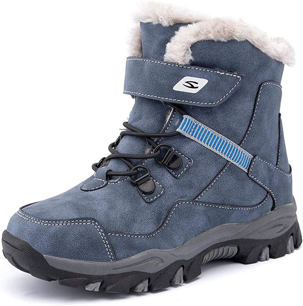 HOBIBEAR Kids Snow Boots Boys Girls