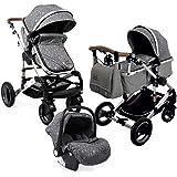 Carro bebé 3 piezas, capazo + silla de paseo + silla de coche + ...